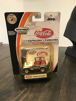 Matchbox 2001 1998 Coca-cola Jeep Wrangler Red Silver Rubber Tires 50th New 1/64