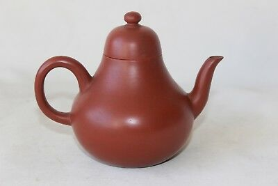 antique 19th c century chinese yixing teapot tea pot signed marked pottery