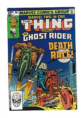 Marvel Two-In-One #80 Vg+ Thing Versus Ghost Rider...death Race