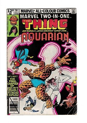 MARVEL TWO IN ONE Issue 58 VG- The Thing and Aquarian