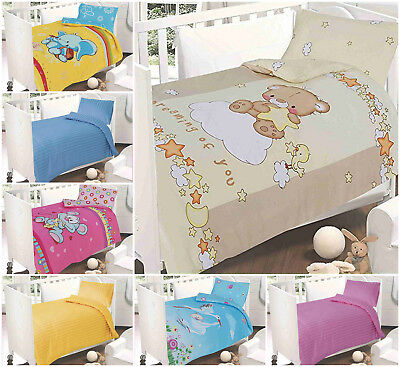 250 Tc Cotton Satin Sateen Junior Toddler Cot Bed Duvet Cover Sets