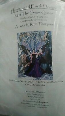 "Heaven and Earth Designs ""Mini The Snow Queen"" Cross Stitch Kit"
