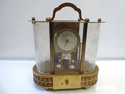 Vintage Schmidt Musical Mechanical Brass 8 Day Carriage Clock