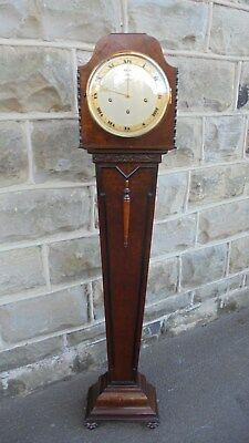 Quality Antique Burr Walnut Granddaughter Clock