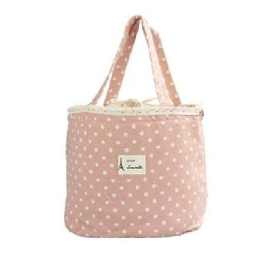 Little Cotton Tote Storage Bag For Your Bits & Bobs -  Dusty Pink Polka Dots