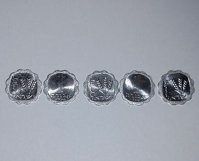 LOT of 5 One 1 Agora Israeli Israel Coins Agorah Series Holy Land Widow's Mite