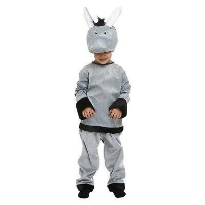 Childs Donkey Christmas Xmas Fancy Dress Up Outfit Nativity Pantomime Costume