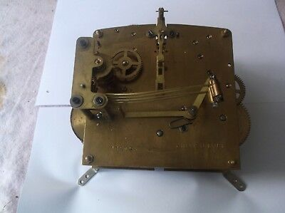 British Made 4 Hammer 4X4 Mechanism  From An Old  Mantle Clock Ref V 11