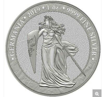2019 Germania 5 Mark 1 Oz .9999 Silver Coin First Release ~ In Hand !!