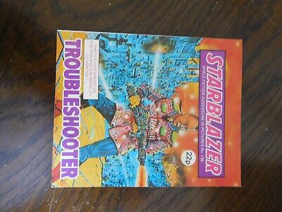 Vintage Starblazer issue no. 136 Troubleshooter, Space Fiction Adventure Comic