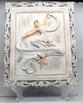 Three Dimensional Figural Polyresin Ballerina Dancer Sculpture Home Decor