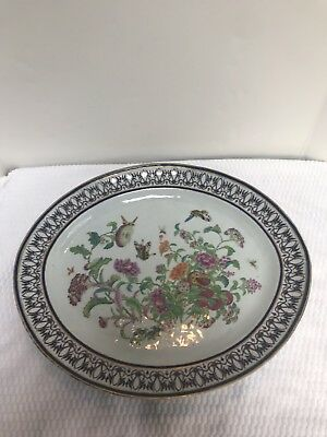 Estate Large 19th Century Chinese Antique Famille Rose Oval platter. No reserve!