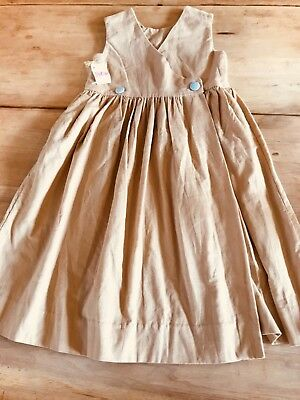 shrimp and grits girls pinifore size 5ready to monogram beige