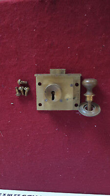 Antique Brass Chatwood Safe Door lock with Matching Brass Pull Handle No Key
