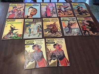 Lot of 12 Classics Comics 1-29.  No Resever