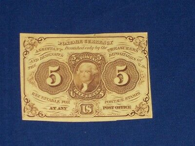 5c US Fractional Note. F21