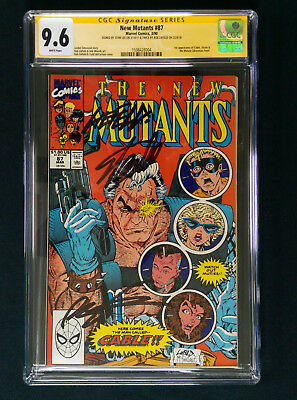 New Mutants 87 - CGC SS 9.6 - signed by Stan Lee and Rob Liefeld - 1st app Cable