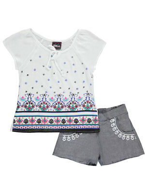 """RMLA Big Girls' """"Floral Thorns"""" 2-Piece Outfit (Sizes 7 - 16)"""