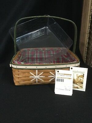 Longaberger 2009 Christmas Collection Snowflake Cookie Basket Combo
