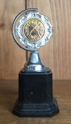 vintage silver plate 1959 shooting trophy, loving cup, trophies, trophy
