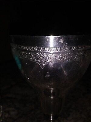 Large Metal Chalices - Set Of 8