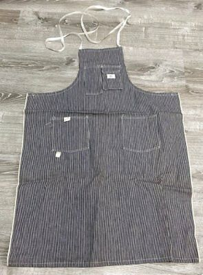 Vintage Denim Blue Stripes APRON Workwear Sears UNUSED Tags