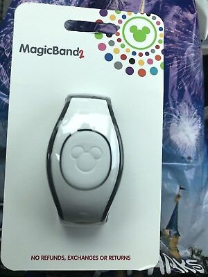 Disney  White Solid Color Magicband Magic Band New In Hand