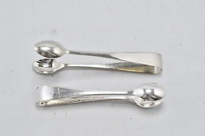 2 Vintage Silver Plated Sugar Ice Cube Tongs Job Lot Kitchen