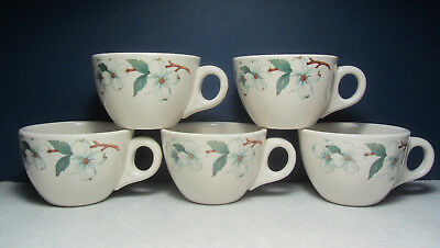 5 - COFFEE CUPS Monticello Dogwood - 1960 Mayer China Restaurant Ware