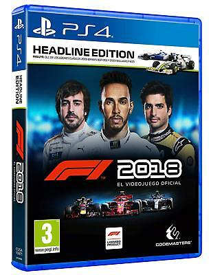 F1 2018 Headline Edition, PlayStation 4 Fisico  en castellano
