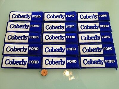 15 Vintage COBERLY FORD car dealership PATCH LOT sew RARE Los Angeles, CA closed