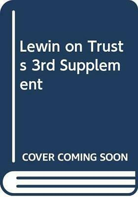 Lewin on Trusts 3rd Supplement by Brightwell, James Book The Cheap Fast Free