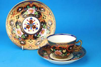 Stunning ART NOUVEAU Heavily Gilded NORITAKE Trio WATERLILY Cup Saucer Plate