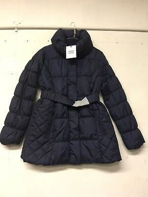 Navy Blue L Size Large Mamalicious Maternity Quilted Winter Coat Jacket
