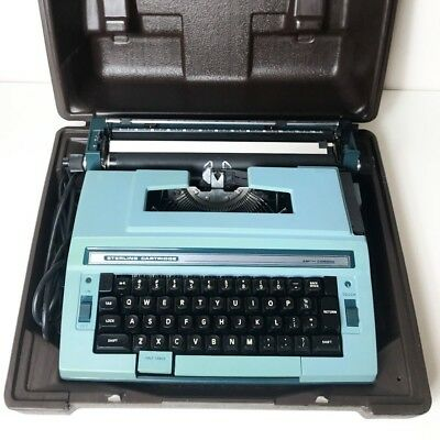 Vintage Smith Corona Sterling Cartridge Electric 3L Typewriter With Hard Case
