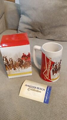 2012 BUDWEISER WINTER WONDERLAND HOLIDAY STEIN NEW IN BOX with COA
