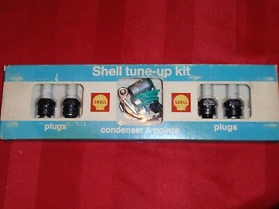 Vintage Shell Oil Company Tune-Up Kit - Shell written on each plug