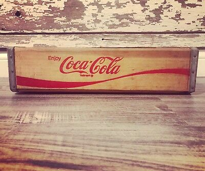 (#185) Vintage Near Mint Shape Coca Cola Coke Wood Soda Pop Crate