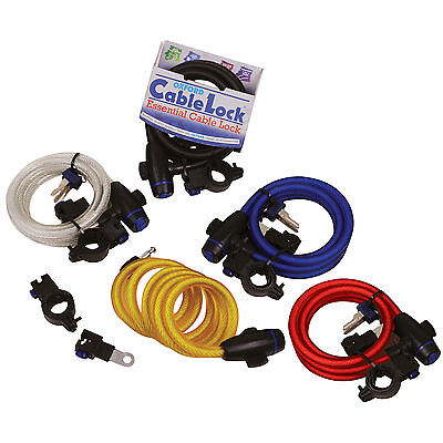 Oxford Cable Lock Tough & Reliable Motorcycle Motorbike Cable Lock Gold