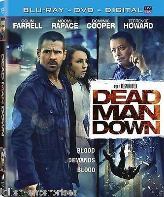 Dead Man Down (Blu-ray/DVD, 2013, 2-Disc Set) NEW Factory Sealed Free Shipping