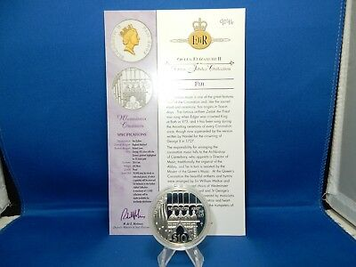 2002 Fiji Westminster Choristers $10 Proof Silver Coin