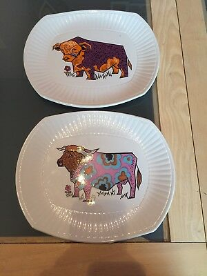 Vintage Beefeater Steak And Grill Plates -Ironstone Pottery  X2