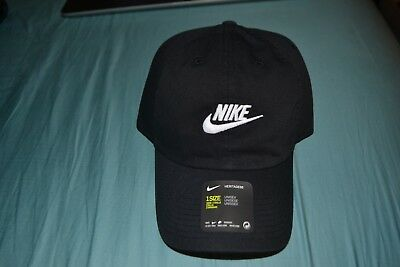 e1592ce9 NIKE H86 FUTURA Washed Cap Black White Heritage 86 Unisex Cotton New ...