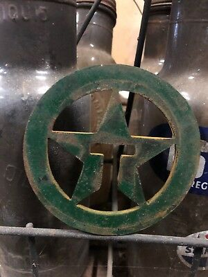 Vintage Texaco Emblem Gas Pump Sign Shell Gulf Visible Lubester Wayne Nozzle Old