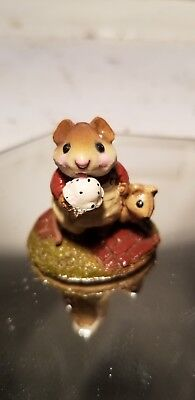 "Wee Forest Folk Mousey's Cone - Retired in 1994 - Cute Vintage Mouse! ""1983"""