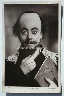Music Hall Star - George Robey - Autograph - Early Original Real Photo Postcard