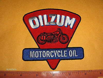 Harley Davidson,Indian,Customs,Vintage Style Oilzum Motorcycle Jacket Patch.