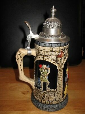 Mikolow Stein Made in Poland Handmade with Castle, Knights and Drinkers - NEW
