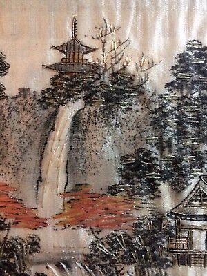 nice antique Chinese silk picture embroidery painting on silk