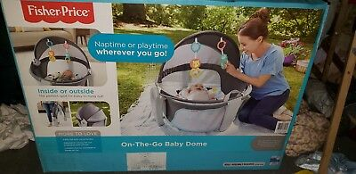 NEW! Fisher-Price On-the-Go Baby Dome Windmill Indoor/Outdoor Play Space Mat